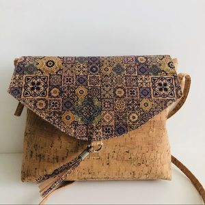 Mandala Cork Crossbody Bag New Without Tags